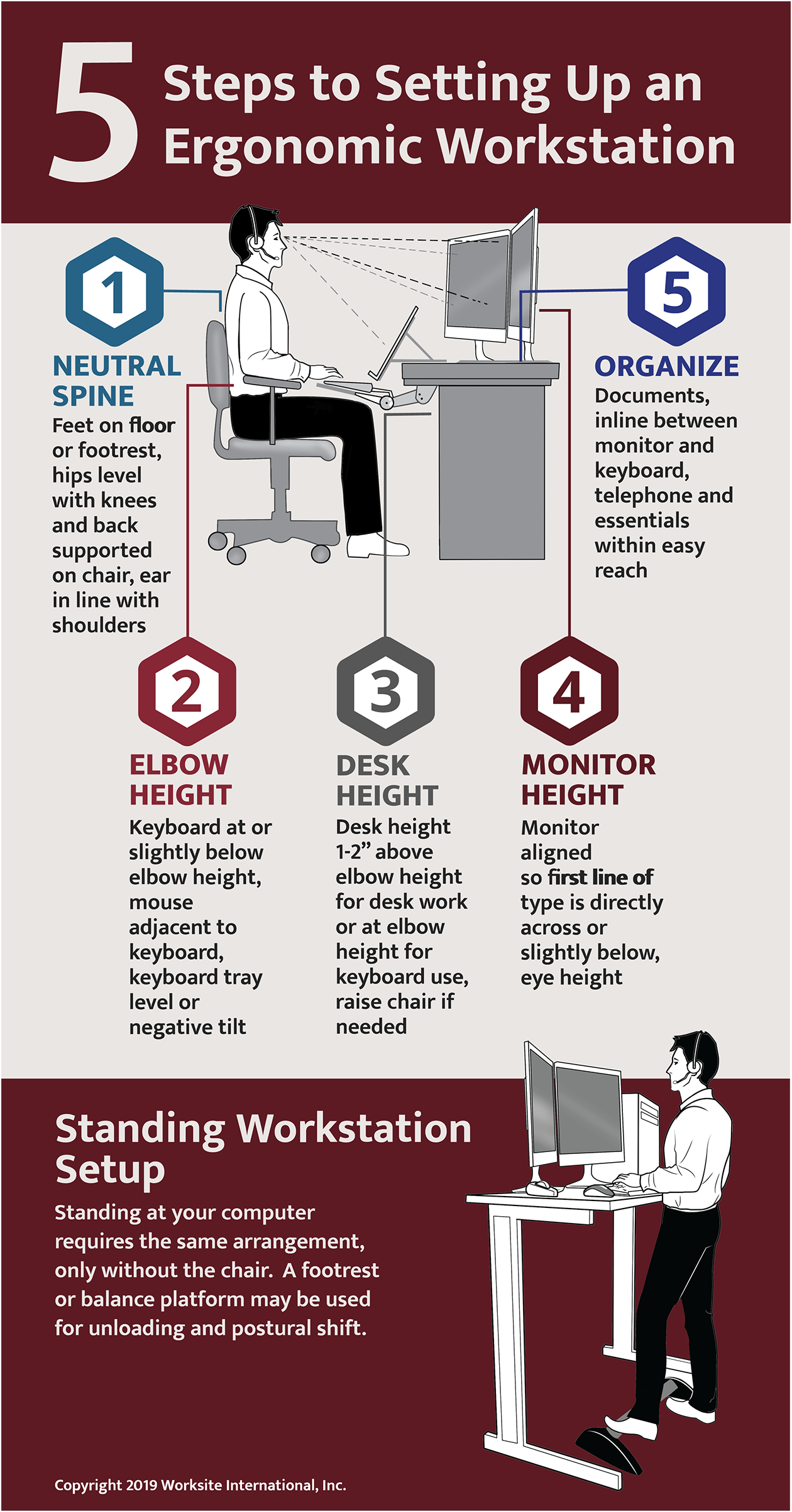 5 Steps to Setting Up an Ergonomic Workstation [Infographic]