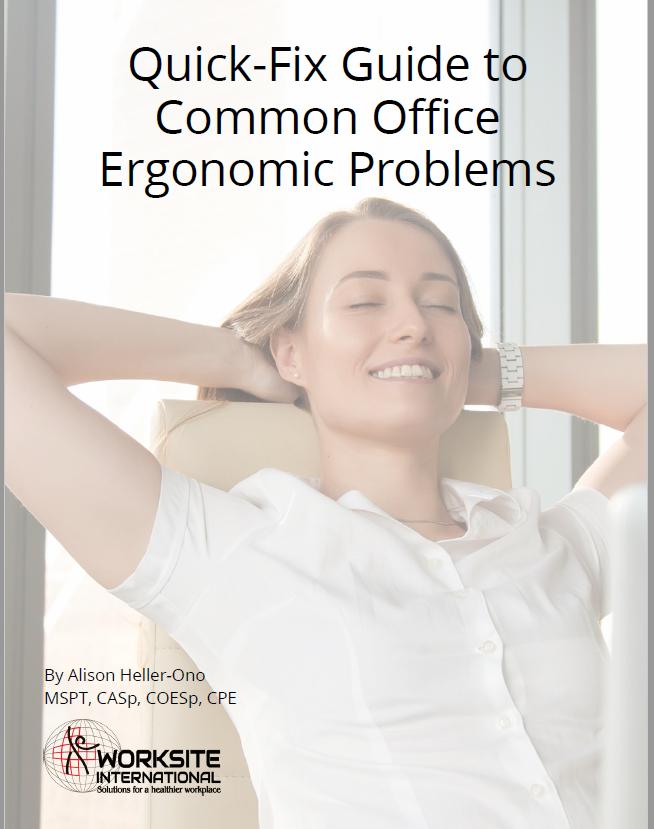 Quick Fix Guide to Common Office Ergonomic Problems