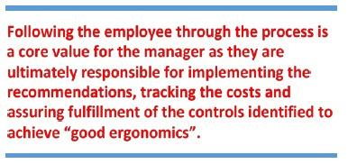 Following the employee through the process quote