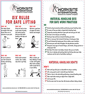 Six Rules for Safe Lifting