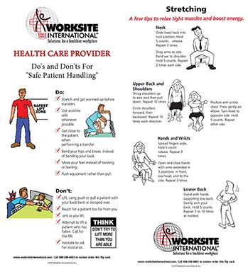 Safe Patient Handling Health Care Provider